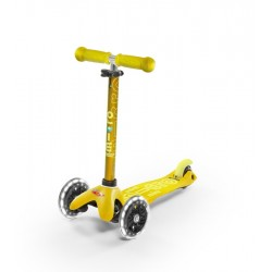 Patinete Mini Deluxe Amarillo con luces LED