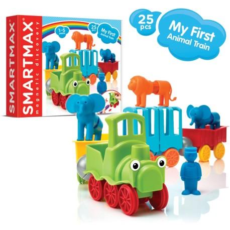 Juego de construcción magnética SmartMax tren de animales de 25 piezas