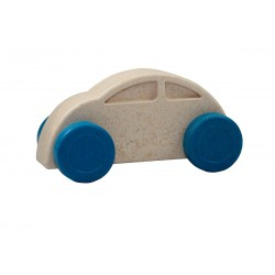 Coche blanco y azul eco-friendly y antibacteriano
