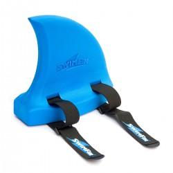 Aleta de tiburón flotante azul