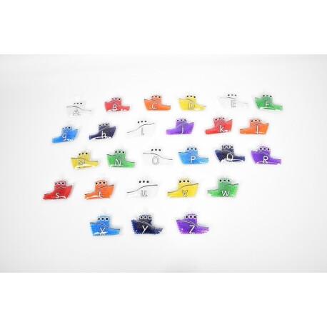 Barquitos de gel de colores para aprender el abecedario