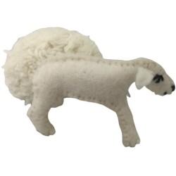 Oveja de lana con lana extraíble