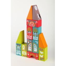 Set de bloques de construcción de madera - Ciudad Fabulosa 1 (Fabulous City LKM-1)