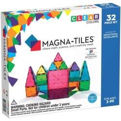MAGNA-T CLEAR de 32 piezas de construcción magnética de colores