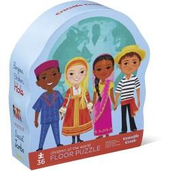 Puzle de los niños del mundo de 36 piezas