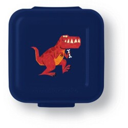 Set de 2 mini fiambreras para snacks (tupper) dinosaurio