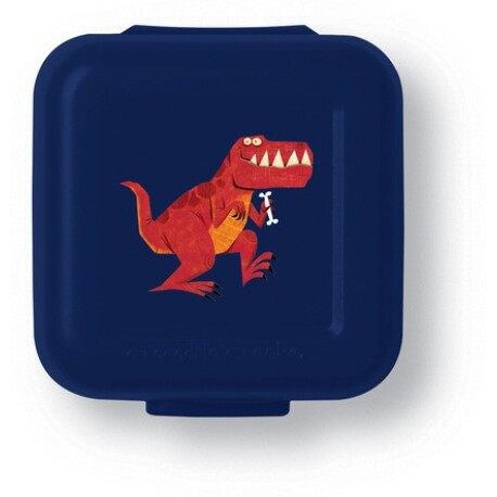 Set de 2 mini fiambreras para snacks (tupper) dinosaurio