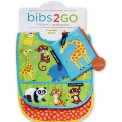 Pack de 2 baberos Bib2Go pequeña jungla (Dinnerware Bib2Go Little Jungle)