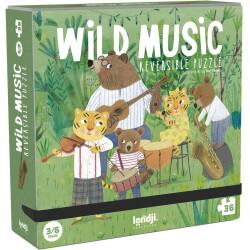 Puzle de 36 piezas reversibles de Los músicos salvajes