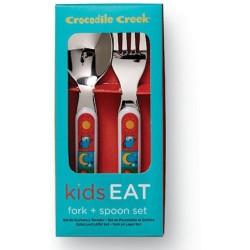 Cuchara y tenedor de la vajilla mundo bebé (Dinnerware Kids World Fork & Spoon)