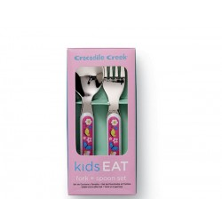 Cuchara y tenedor de la vajilla patio de casa (Dinnerware Backyard Friends Fork & Spoon)