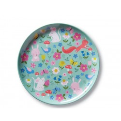 Plato de la vajilla patio de casa (Dinnerware Backyard Friends Plate)