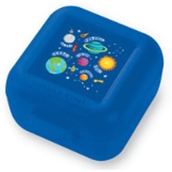 Set de 2 mini fiambreras para snacks (tupper) espacio (Snack Keeper Solar System Set de 2)