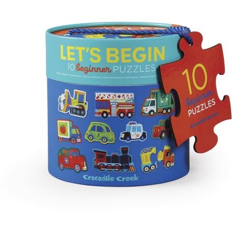 Set de 10 puzles de 2 piezas de los vehículos