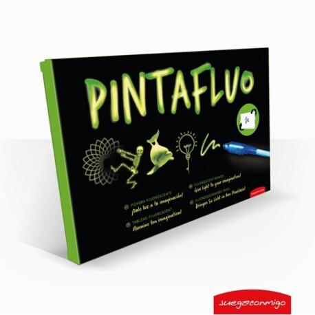 Pizarra fluorescente de 2 caras para dibujar PintaFluo A4