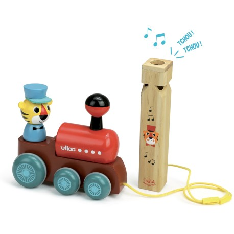 Tren de arrastre de madera con silbato musical (Train à traîner Ingela P. Arrhenius)