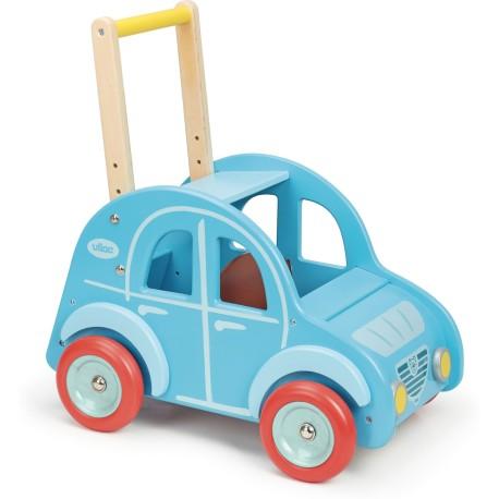 Coche de paseo 2CV de madera azul (Chariot de marche «Dedeuch»)