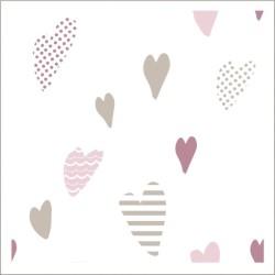 """Muselina de algodón """"heartbreaker"""" estampado funny hearts"""