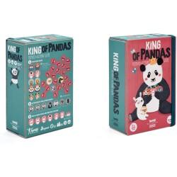 Juego de memoria de parejas del Rey de los pandas (con acciones)