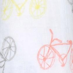 """Muselina de algodón """"leader classic swaddles"""" estampado bicicletas"""