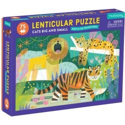 Puzle lenticular de 75 piezas del reino de los felinos