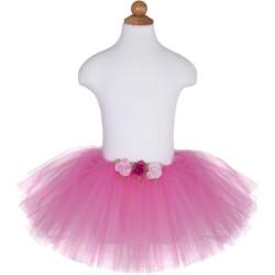 Tutú con rosas de color rosa oscuro (4-6 años)