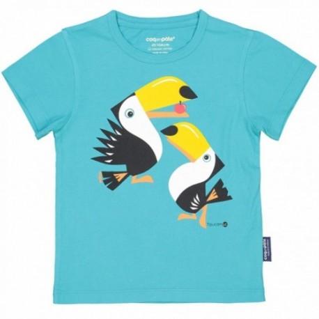 Camiseta de manga corta de algodón 100% orgánico de los tucanes