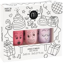 Pack de 3 pintauñas de fiesta: Cookie, Bella y Elliot