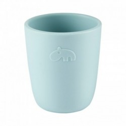 Mini vaso de silicona azul