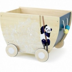 Carrito de juguete de madera