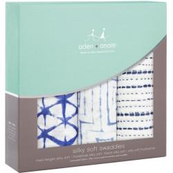 """Pack de 3 muselinas de bambú """"indigo silky soft"""""""