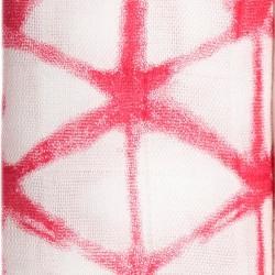 "Muselina de bambú ""berry shibori silky soft"" estampado cubed"