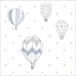 "Muselina de algodón ""night sky swaddles"" estampado hot air balloon"