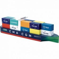 Buque portacontenedores de madera CMA-CGM Jacques Saadé