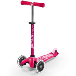 Patinete Mini Deluxe Rosa con luces LED