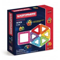 Set de construcción básico arcoiris (14 piezas magnéticas) - M-701003