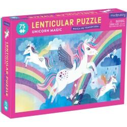 Puzle lenticular de 75 piezas del unicornio mágico