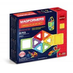 Set de construcción con ventanas (20 piezas magnéticas) - M-715001
