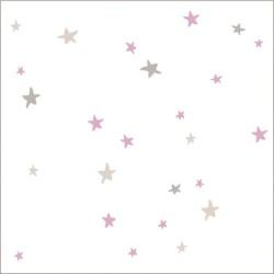 """Muselina pequeña de algodón """"lovely"""" estampado starburst"""