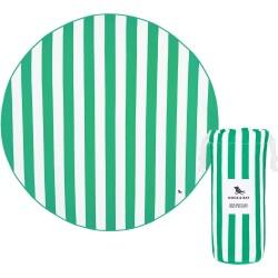 Toalla redonda verde de 170 cm de diámetro