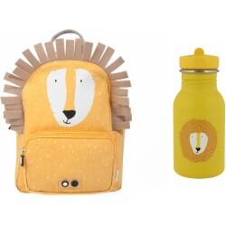 Pack mochila + botella 350 ml del león