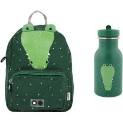 Pack mochila + botella 350 ml del cocodrilo