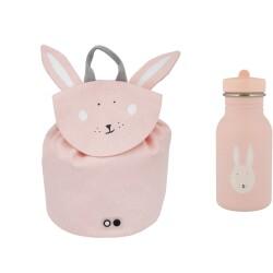 Pack mini mochila + botella 350 ml del conejo