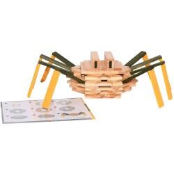 Caja de 75 piezas de construcción de madera Araña
