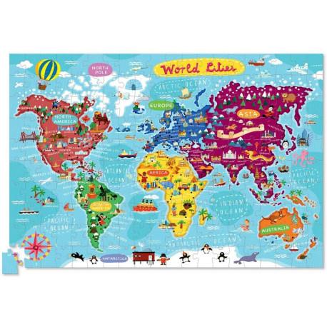 Puzle de 200 piezas de las ciudades del mundo