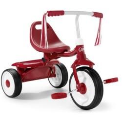 Triciclo plegable rojo