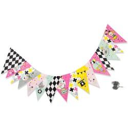 Banderola de papel pink circus