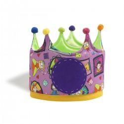 Corona grande de tela con estampado de Superprincesas