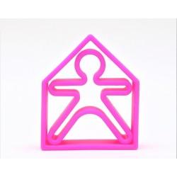 Kit de juguetes de silicona (muñeco + casa) de color lila