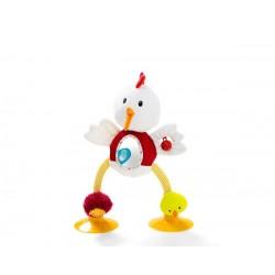 Ophélie, gallina de actividades
